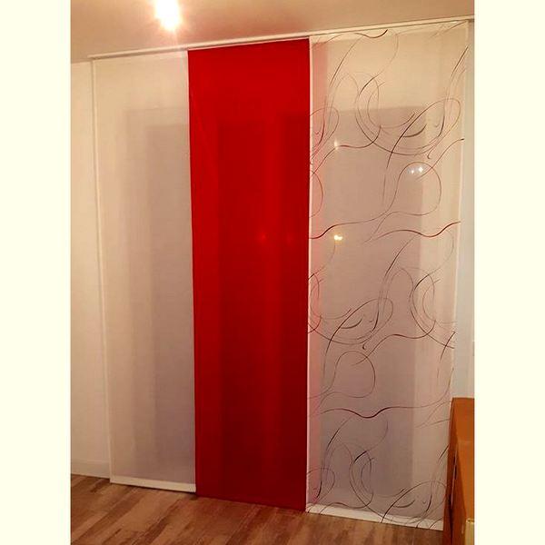 Tende per interno a pannello for Tende lino moderne